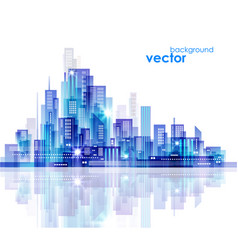 night city skyline vector image vector image