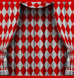 red and white vintage rhomboids background vector image vector image