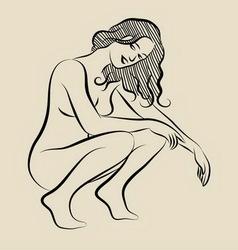 Sexy girl 3 sketch vector image