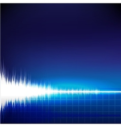 Sound wave abstract background vector image