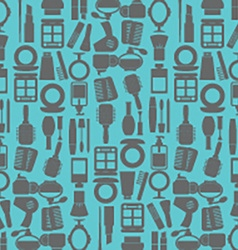 Variety Cosmetics Pattern Background vector image vector image