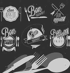 Vintage food design elements vector image vector image