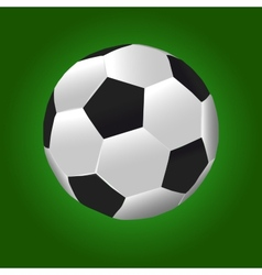Football Ball With Green Background vector image