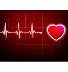 Heart beating monitor EPS 10 vector image vector image