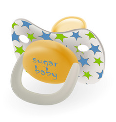 orthodontic baby s dummy child pacifier or nipple vector image