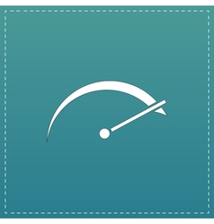tachometer flat icon vector image