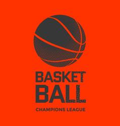 basketball poster design vector image vector image