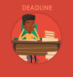 businessman having problem with deadline vector image