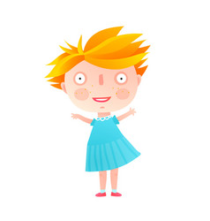 cute little girl standing isolated vector image vector image