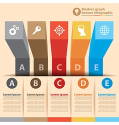 Modern graph banner infographic vector image