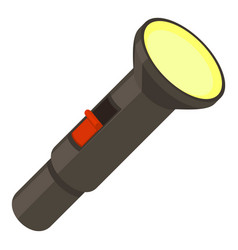 pocket flashlight icon cartoon style vector image vector image