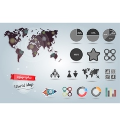 World map infographic template Set of vector image vector image