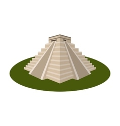 Chichen Itza icon in cartoon style isolated on vector image