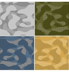 Digital camouflage seamless patterns - set vector image