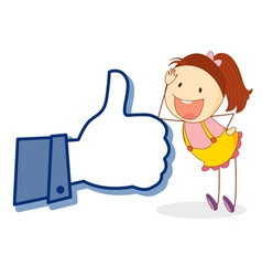 girl with thumb vector image vector image
