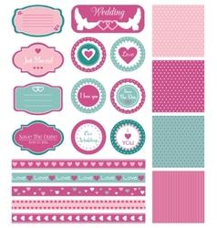 Set for wedding design vector image