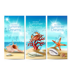 set of banners of a summer vector image vector image