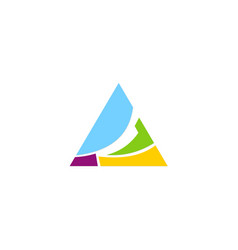 triangle colored company logo vector image vector image