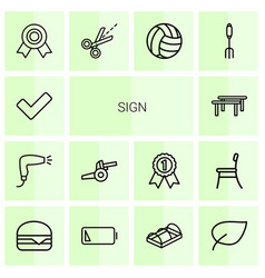 14 sign icons vector