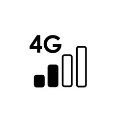 4g network icon vector image