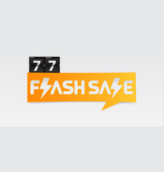 77 shopping day flash sale banner vector