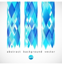 abstract background of blue diamonds vector image