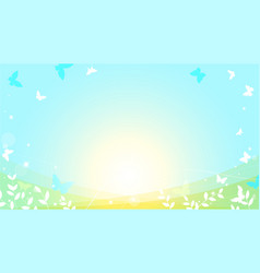 abstract spring summer background in light pastel vector image
