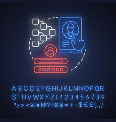 add multiple accounts neon light concept icon vector image