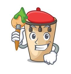 artist conga character cartoon style vector image