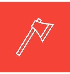 Ax line icon vector image