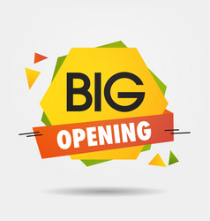 big opening sticker we are open again after vector image