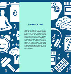 Biohacking concept background in flat style with vector