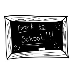 black board back to school vector image