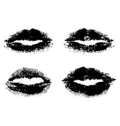 black lips vector image