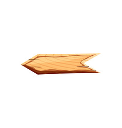 blank wooden arrow icon vector image