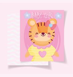 Boy or girl gender reveal pink greeting card cute vector