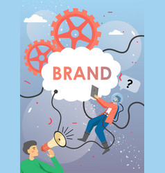 brand test process poster banner template vector image