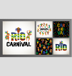 Brazil carnival templates for carnival vector