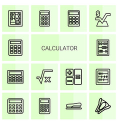 calculator icons vector image