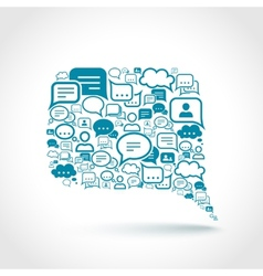 Chat communication concept vector image