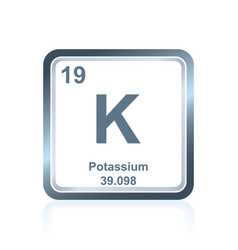 chemical element potassium from the periodic table vector image