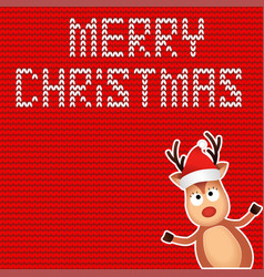 christmas reindeer cute and funny character deer vector image