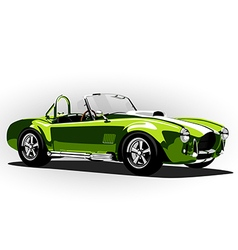 classic sport car cobra roadster green vector image