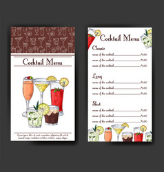 Cocktail discount voucher for cafe or restaurant vector