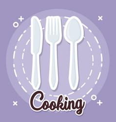 cooking utensils design vector image