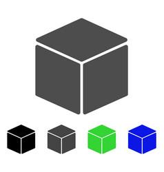 Cube flat icon vector