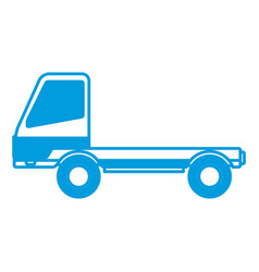 delivery truck trailer transport vehicle vector image
