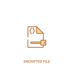 encripted file concept 2 colored icon simple line vector image