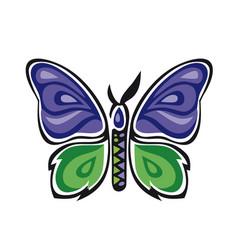 Fantastic butterfly butterfly metamorphosis rose vector