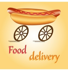 Fast food delivery vector
